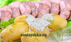 Говядина по-венски с отварным картофелем