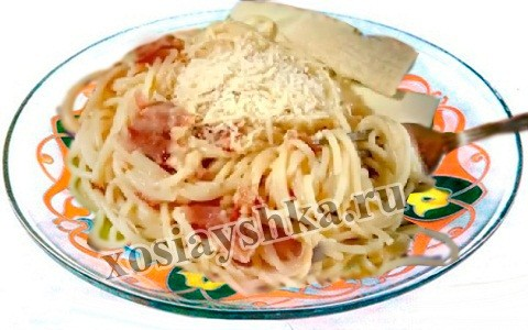 Спагетти а ля карбонара