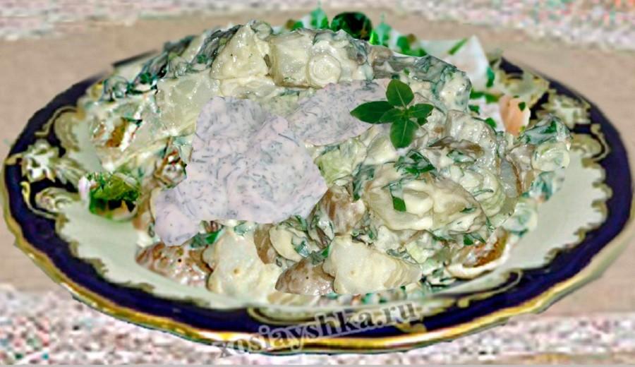 Картофель отварной в сметанном соусе