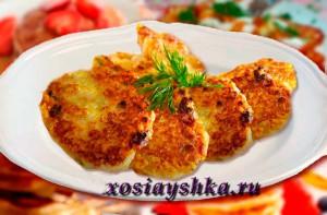 Оладьи рисовые с сыром