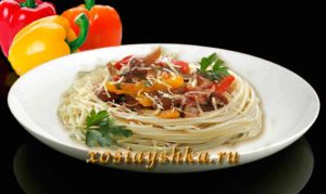 Спагетти с грибами