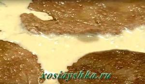 Скалопине с соусом горгонзола