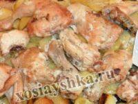 Курица тушеная в духовке