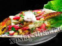 Салат картофельный с кукурузой