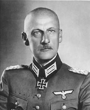 """Командующий группы """"Север"""" генерал-фельдмаршал Вильгельм фон Лееб"""
