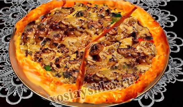 Пицца c шампиньонами