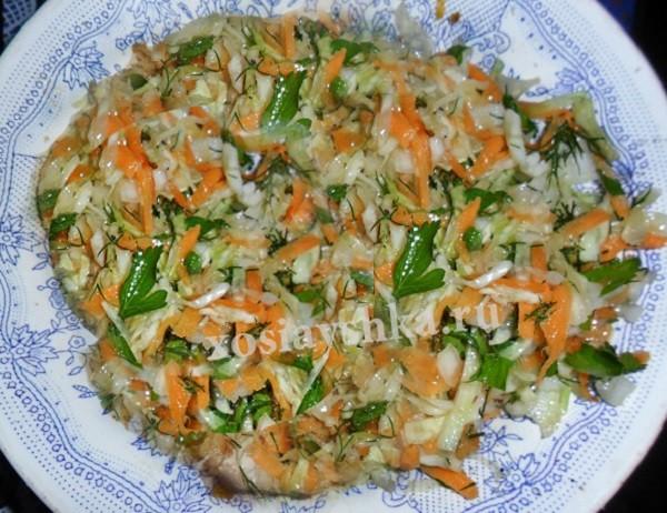 Сочный, свежий и витаминный салатик