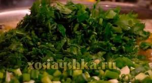 Зелень лука, кинзы. петрушки и укропа