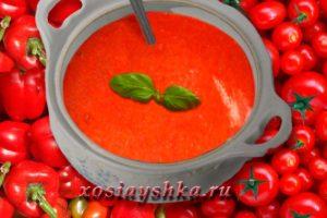Суп-пюре из паприки