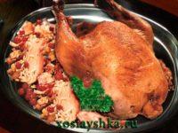 Курица с беконом