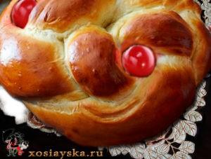 Греческий пасхальный хлеб (Кликните по фото)