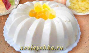 Бланманже с ананасами