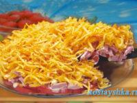 Салат с картофелем фри
