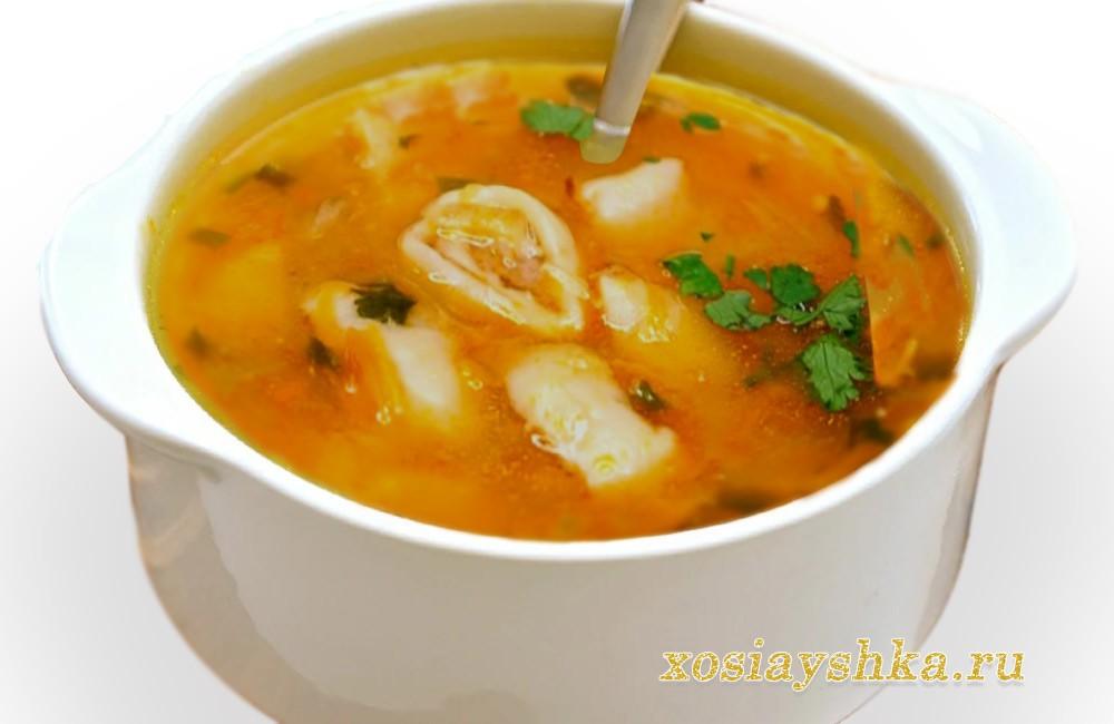 Суп с мясными рулетиками
