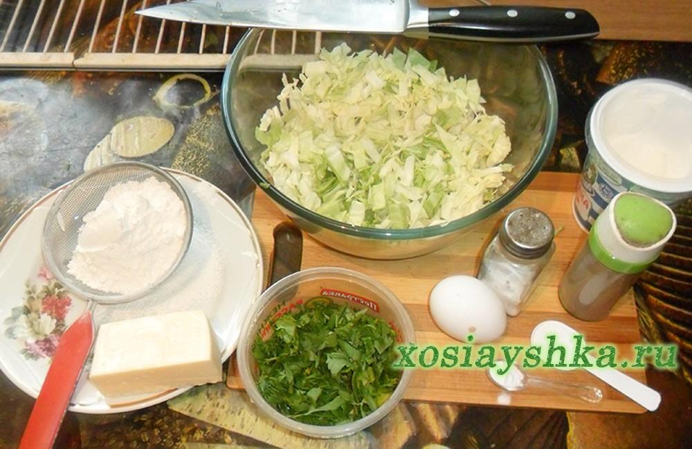 Капустные оладушки в духовке